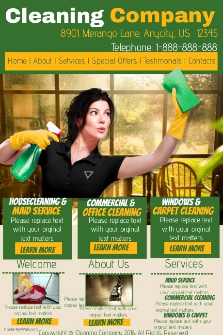 cleaning pany flyer template