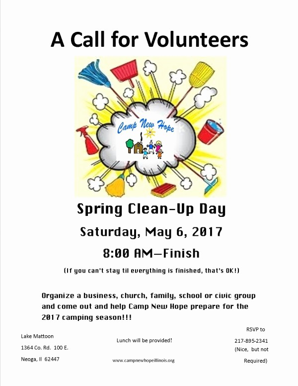 Office Clean Up Day Flyer Luxury Camp New Hope Camp Clean Up Day May 6 2017