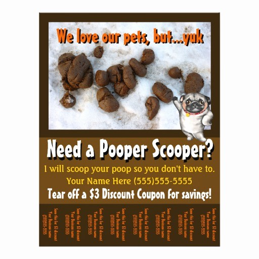 Office Clean Up Day Flyer Luxury Dog Poop Scooper Yard Clean Up Custom Tear Sheet