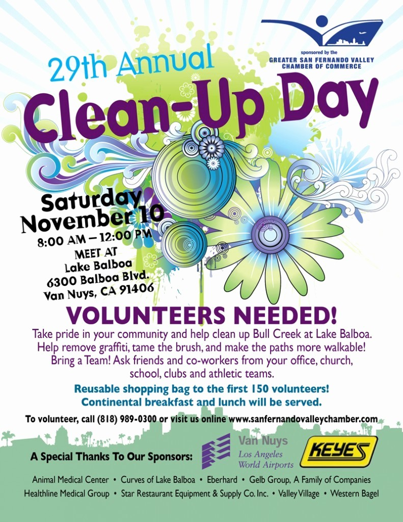 Office Clean Up Day Flyer New 29th Annual Clean Up Day Lake Balboa Neighborhood Council