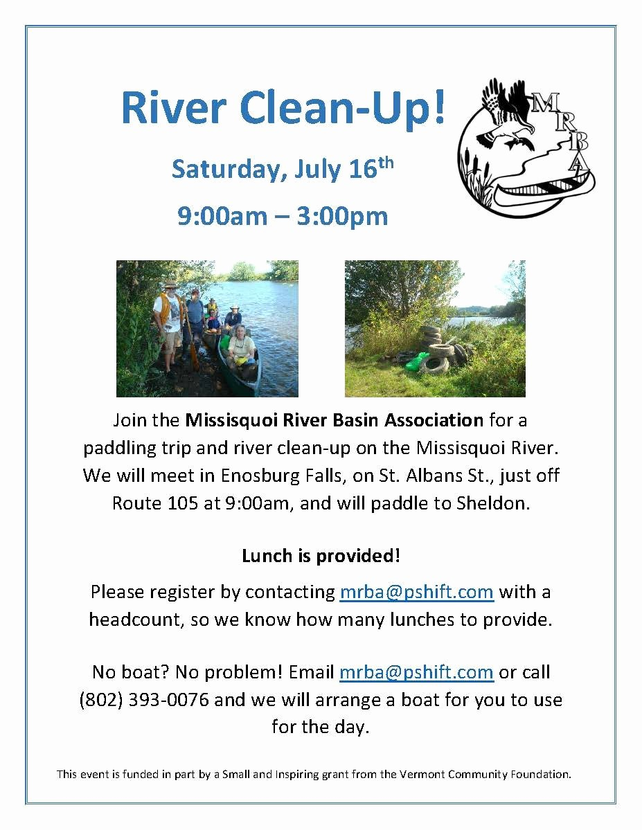 Office Clean Up Day Flyer New events – Missisquoi River Basin association