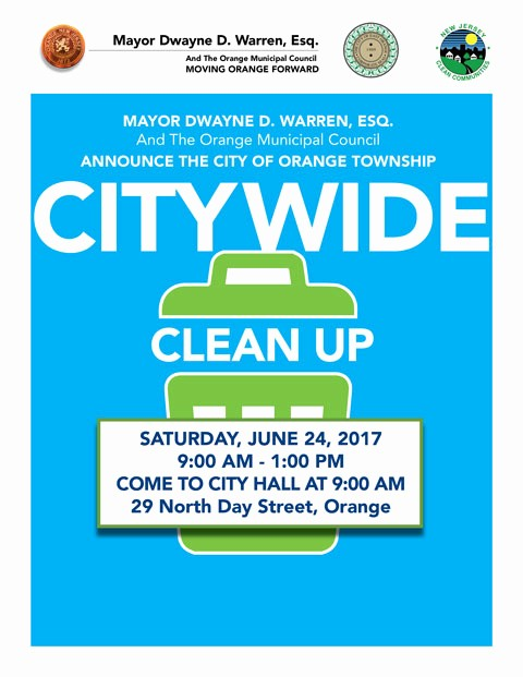 Office Clean Up Day Flyer Unique Wel E to orange township