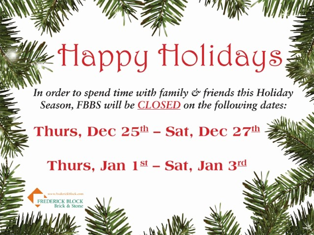 Office Closed for Holiday Sign Beautiful 2014 Holiday Schedule
