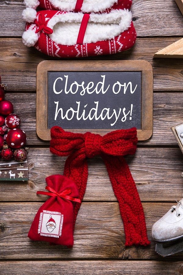 Office Closed for Holiday Sign Beautiful Christmas and New Year S Holiday Hours at Raft to Rafters