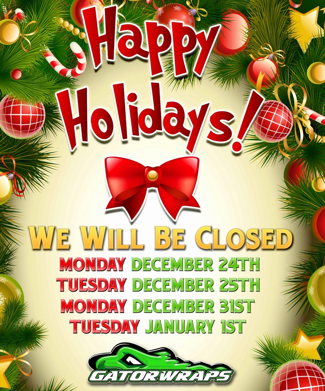 Office Closed for Holiday Sign Best Of Christmas & New Years Holiday 2018 Fice Hours Closed