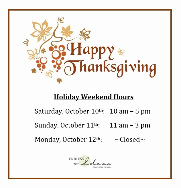 Office Closed for Holiday Sign Elegant Thanksgiving Weekend Hours Style File