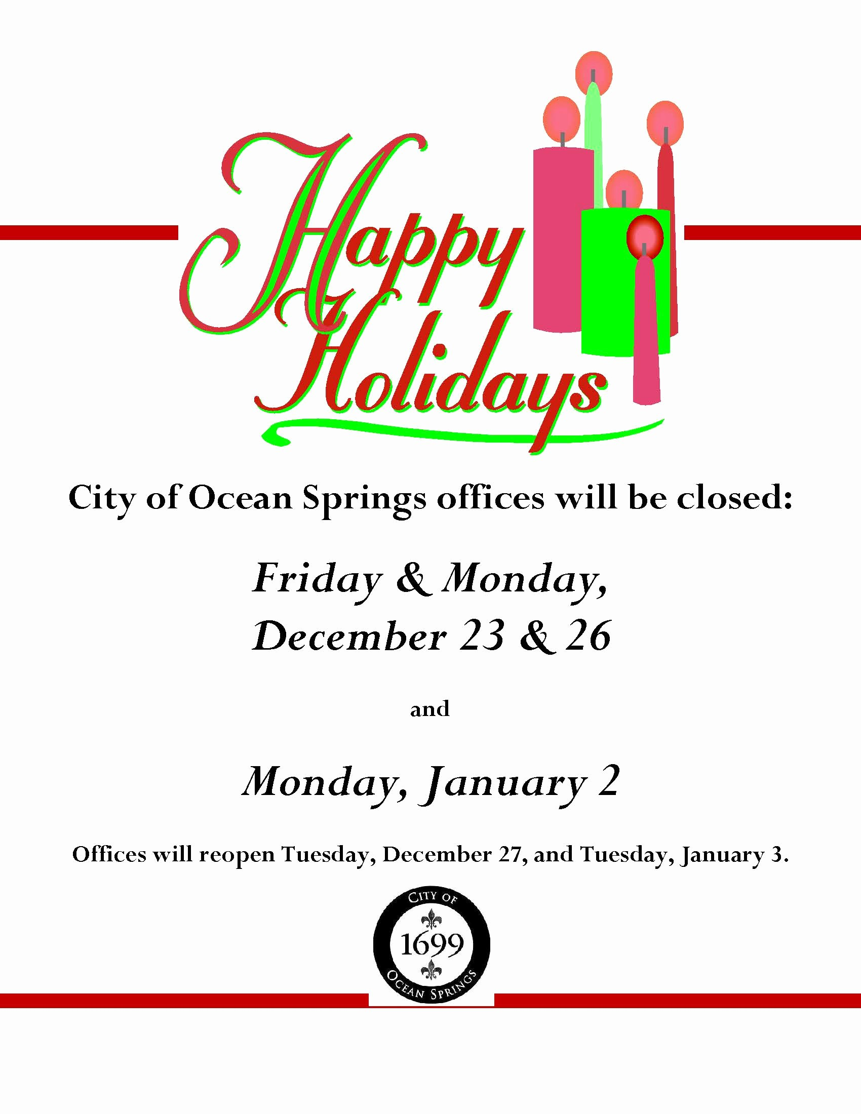 Office Closed for Holiday Sign Fresh Notice Fice Closure Dates for Holidays