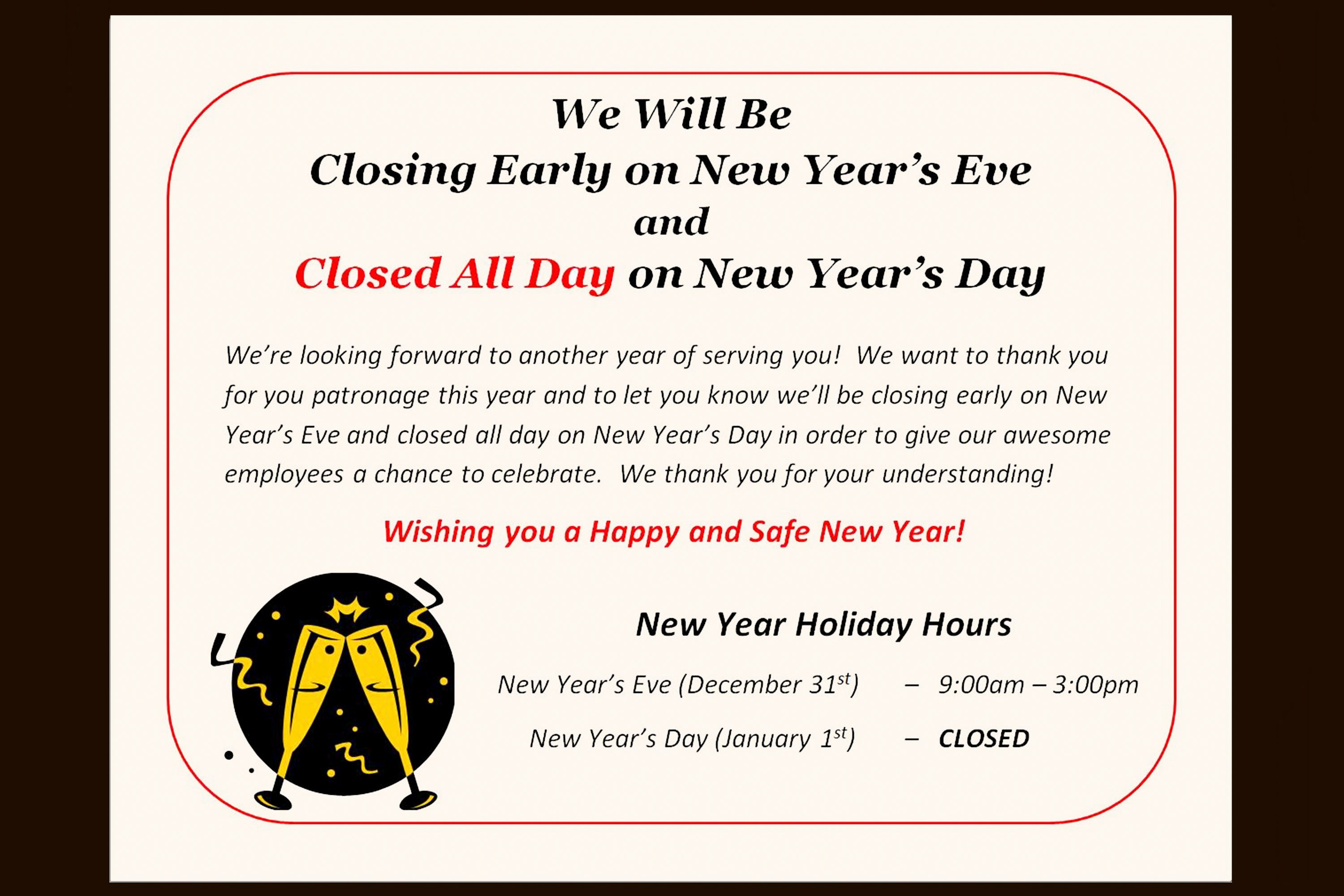 Office Closed for Holiday Sign Inspirational How to Post A Sign for the Observance Of A Holiday