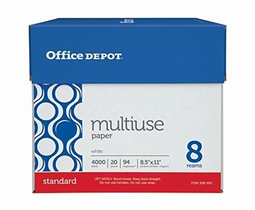 Office Depot Fax Cover Sheet Awesome Fice Depot Copy Paper 20 Lb 94 Bright Letter Size 8 Ream