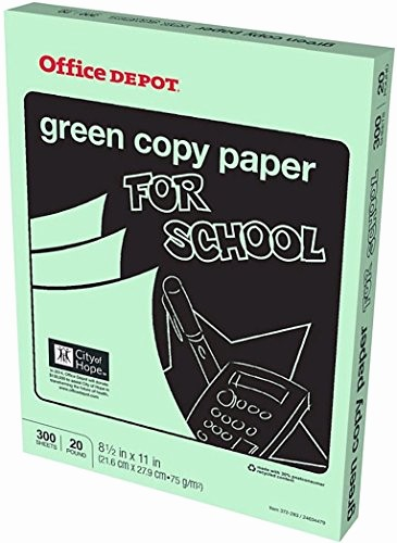 Office Depot Fax Cover Sheet Beautiful Fice Depot Colored Copy Paper Green 8 1 2 Inch X 11