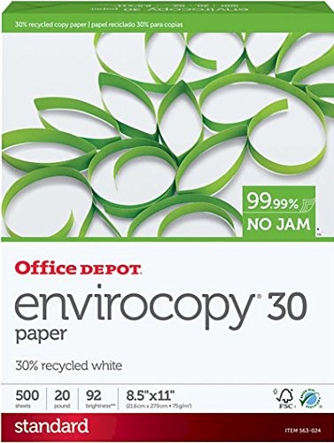 office depot envirocopy 30 recycled copy fax laser inkjet printer