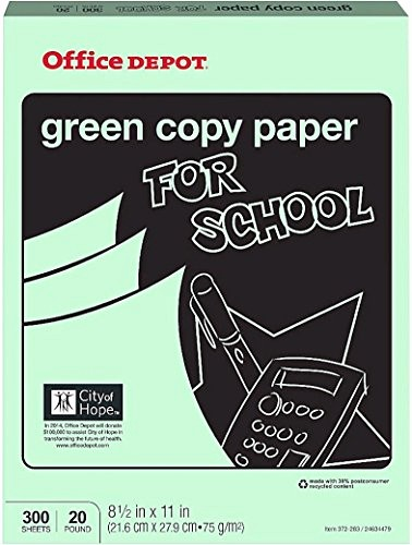 Office Depot Fax Cover Sheet Inspirational Fice Depot Colored Copy Paper Green 8 1 2 Inch X 11