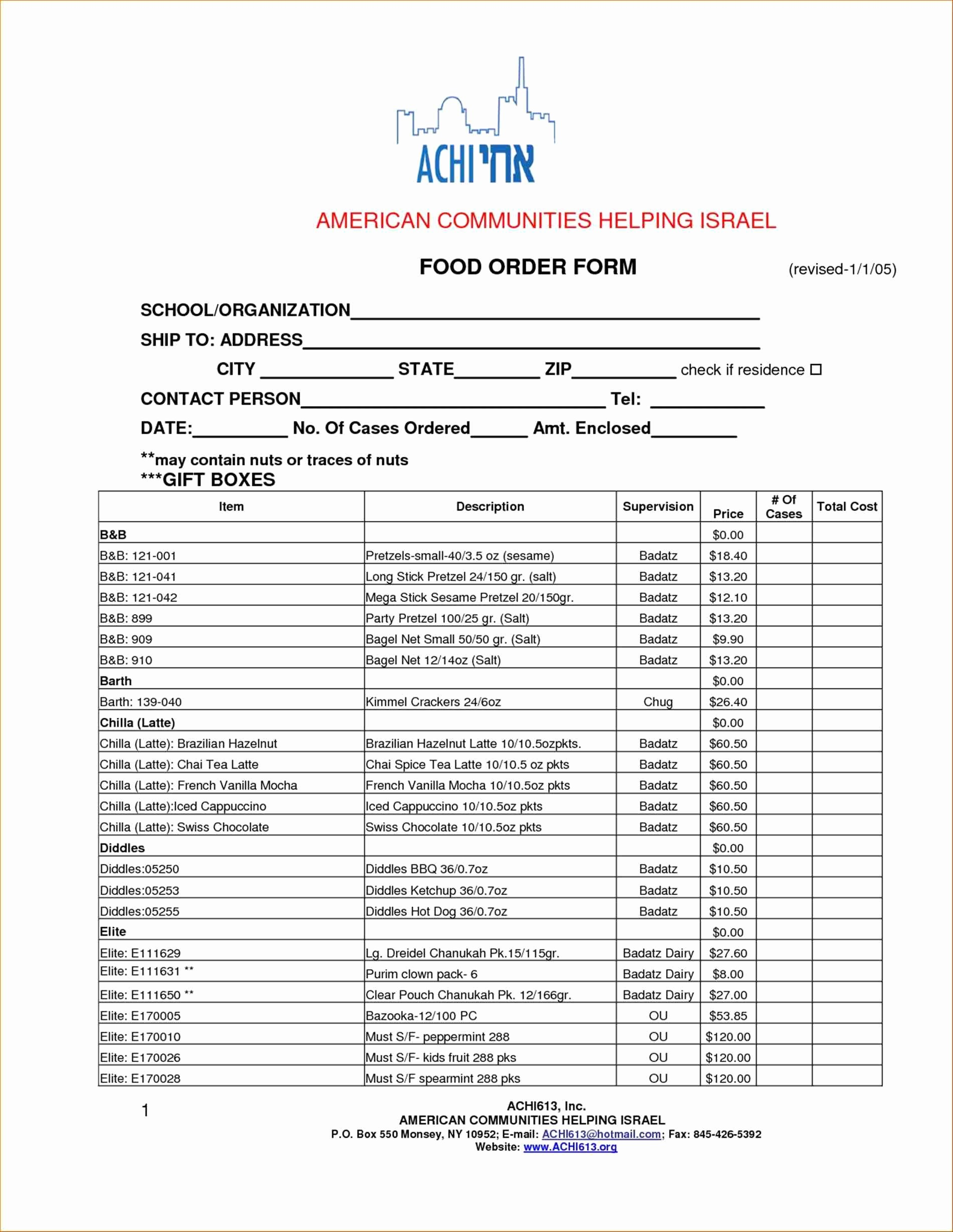 Office Lunch order form Template Best Of Fice Lunch order form Template Image Collections
