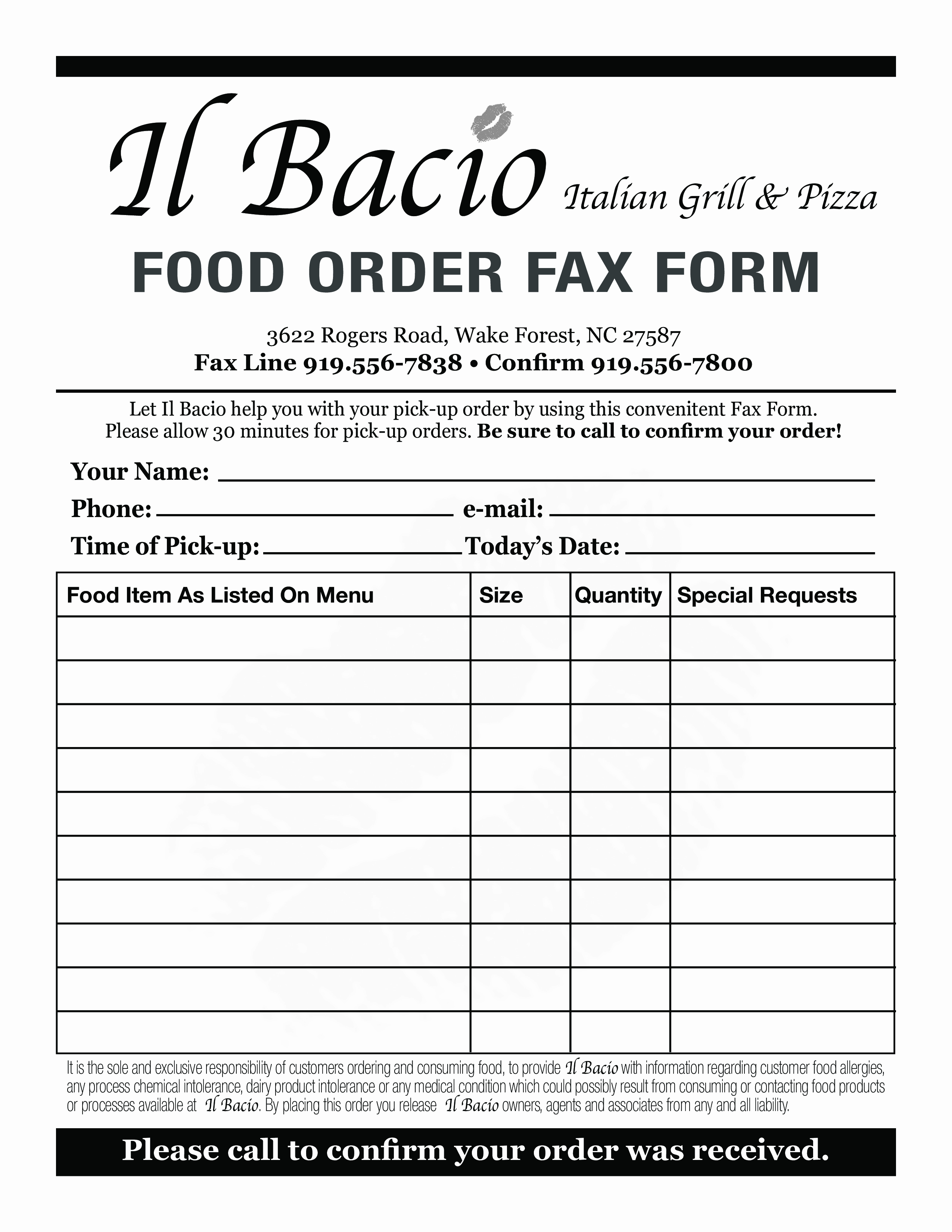 Office Lunch order form Template Fresh 94 Fice Lunch order form Template Lunch order