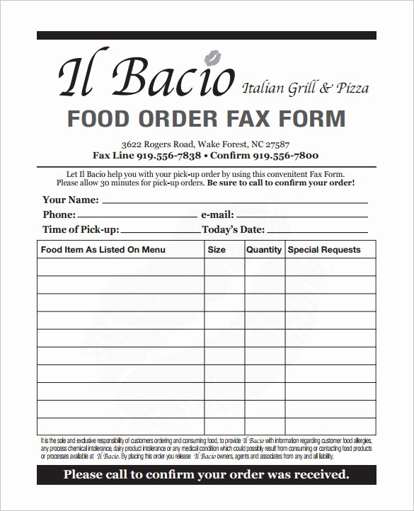 Office Lunch order form Template Unique 29 order form Templates Pdf Doc Excel