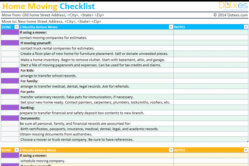 Office Move Checklist Template Excel Best Of Home Moving Checklist Template Professional Version Dotxes