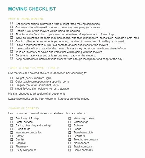 Office Move Checklist Template Excel Lovely Fice Move Checklist Excel Home Moving Checklist Excel
