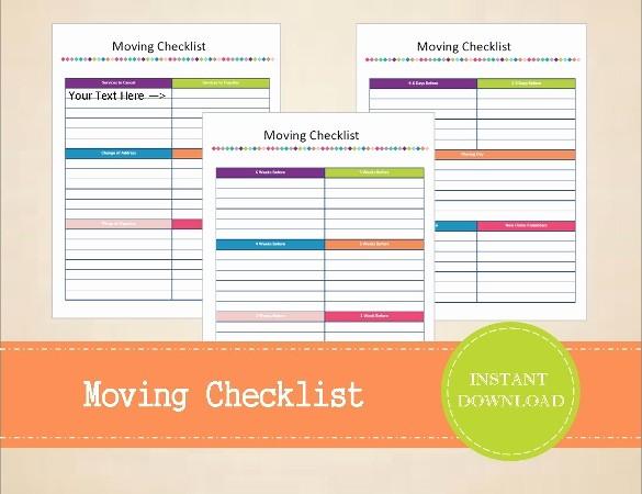Office Move Checklist Template Excel Unique Moving Checklist Template 20 Word Excel Pdf Documents