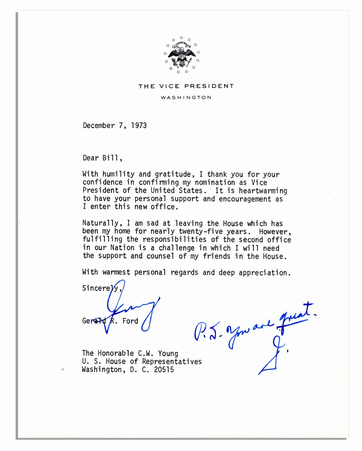 Office Of the President Letterhead Best Of Lot Detail Rare Gerald ford Letter Signed as Vice