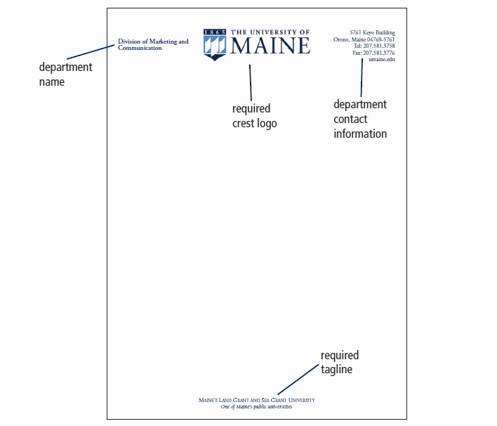 Office Of the President Letterhead Lovely Umaine Letterhead Envelopes & Business Cards Printing