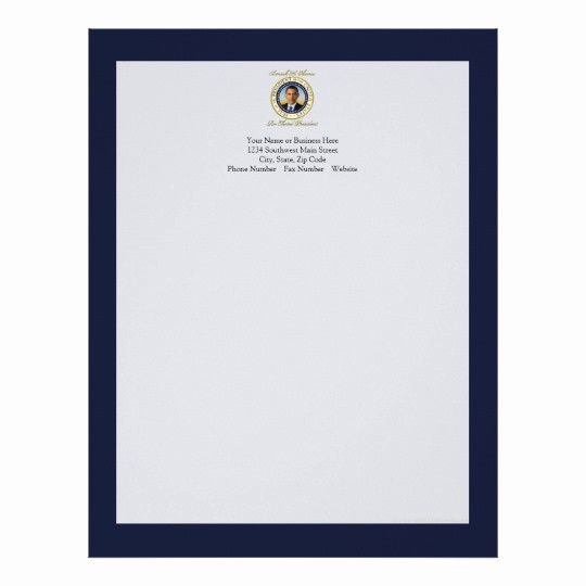 Office Of the President Letterhead Luxury Memorative President Barack Obama Re Election