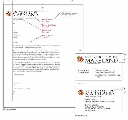 Office Of the President Letterhead Unique the University Of Maryland Brand toolkit