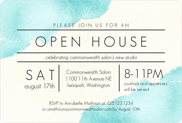 Office Open House Invitation Wording Fresh Modern Watercolor Corporate Open House Invitation