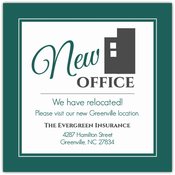 Office Open House Invitation Wording Inspirational Modern Building Business Moving Announcement