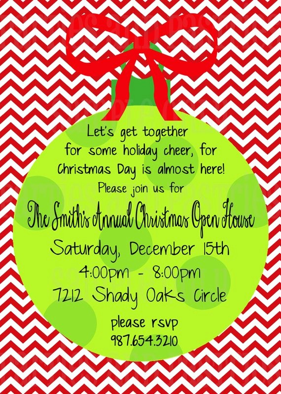 Office Open House Invitation Wording New Items Similar to Open House or Christmas Party Invitation
