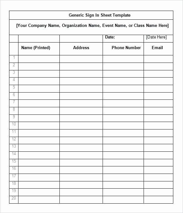 Office Sign In Sheet Template Awesome Dental Sign In Sheet Template Fice – Btcromaniafo