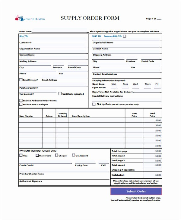 Office Supply order List Template Awesome 10 Supply order Templates Free Sample Example format