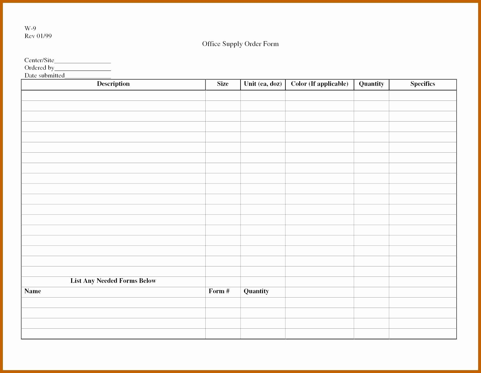 Office Supply order List Template Beautiful 6 7 Supplies List Template