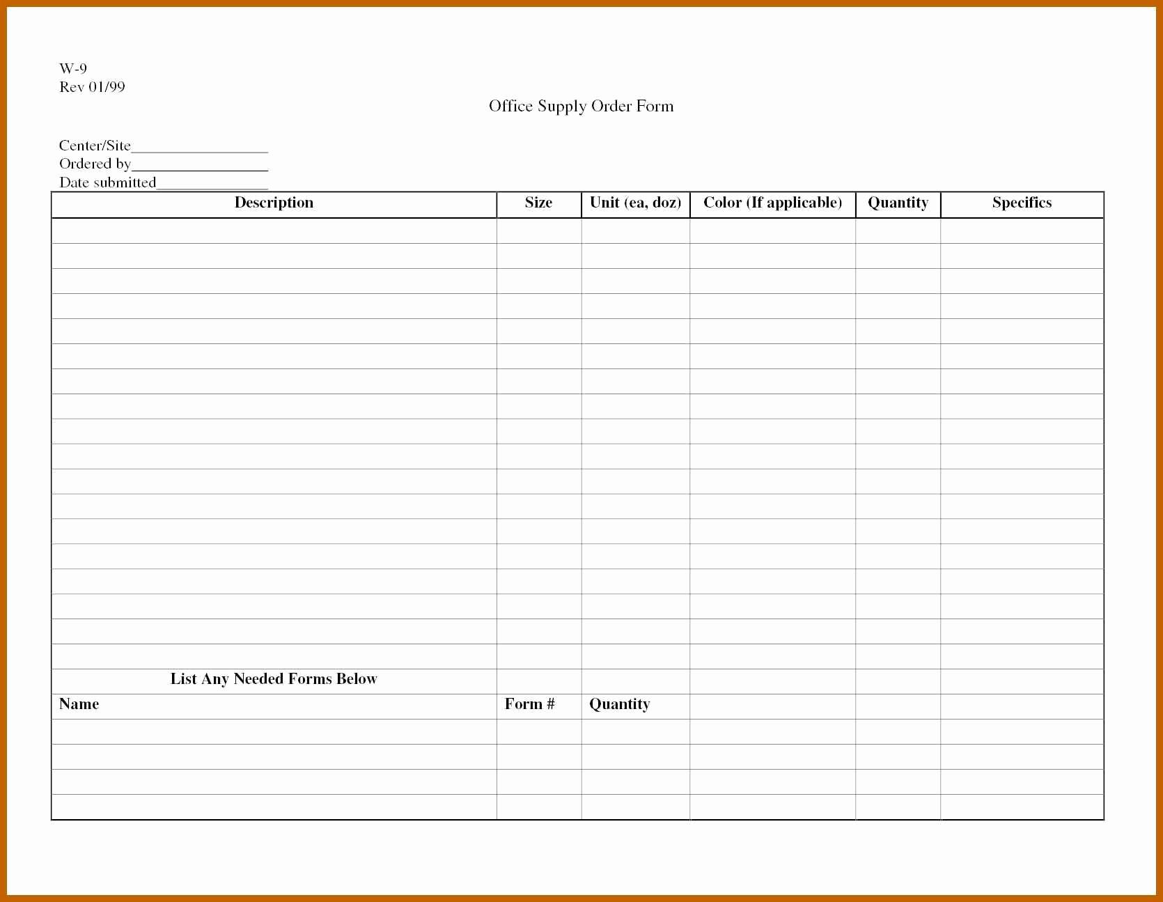 Office Supply order List Template Beautiful 6 7 Supplies List Template