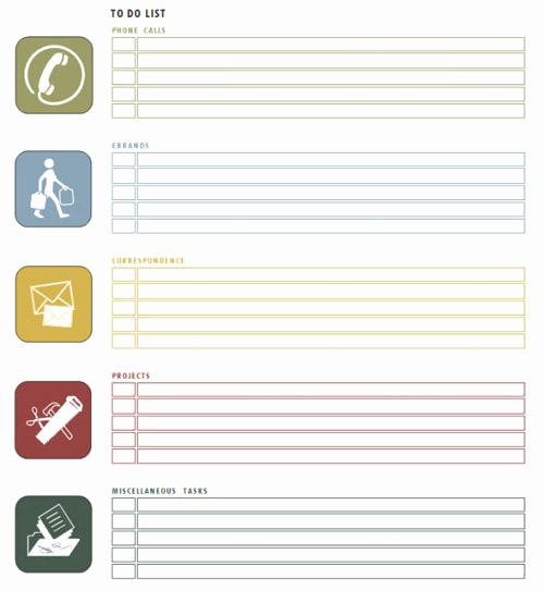 Office to Do List Template Elegant to Do List Template Word