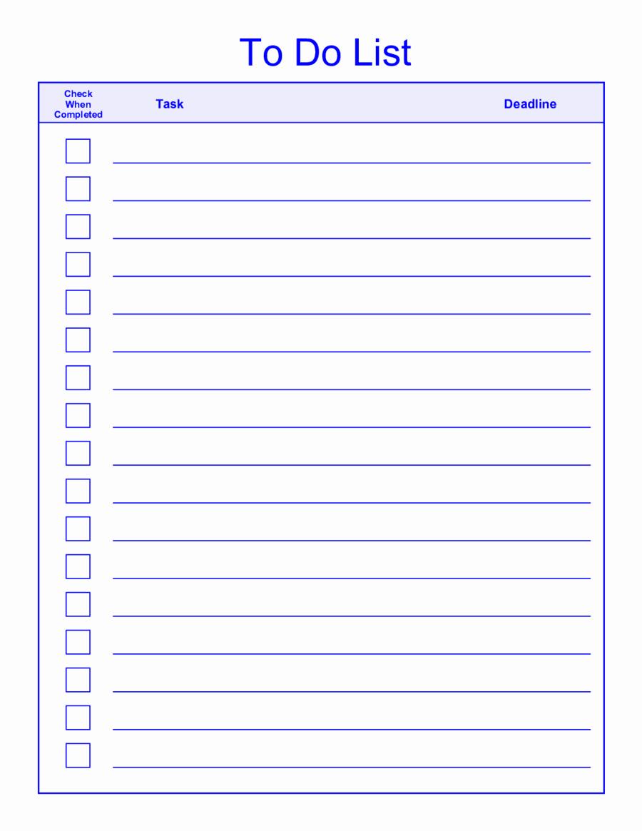 Office to Do List Template Fresh Microsoft Office to Do List Template Things to Do List