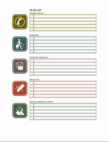 Office to Do List Template Fresh Things to Do List