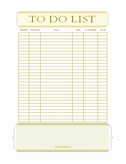 Office to Do List Template Fresh to Do List Templates Fice