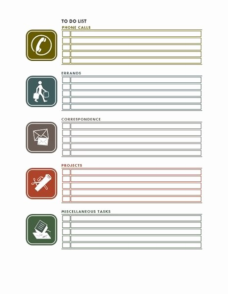 Office to Do List Template Luxury Things to Do List – Fice Templates Regarding Fice to