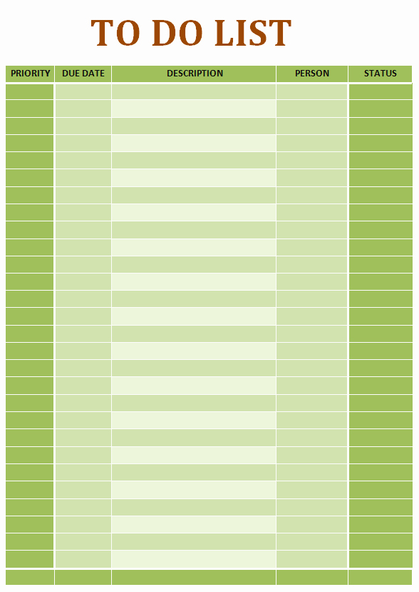 Office to Do List Template Unique Simple to Do List Ms Word Template