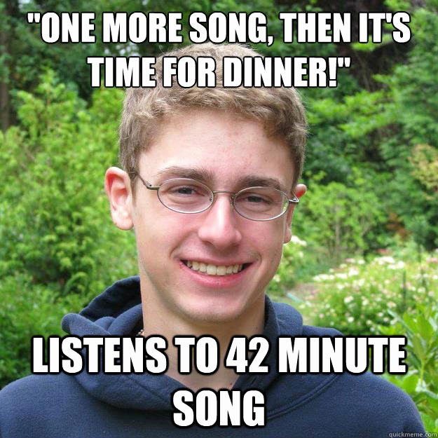"""One Minute Timer with Music Awesome """" E More song then It S Time for Dinner """" Listens to 42"""