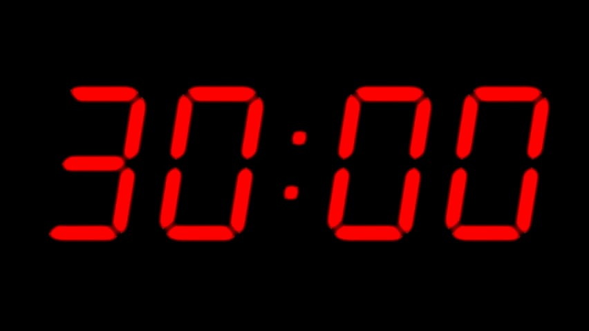 One Minute Timer with Music Fresh Countdown Timer Stock Footage Video