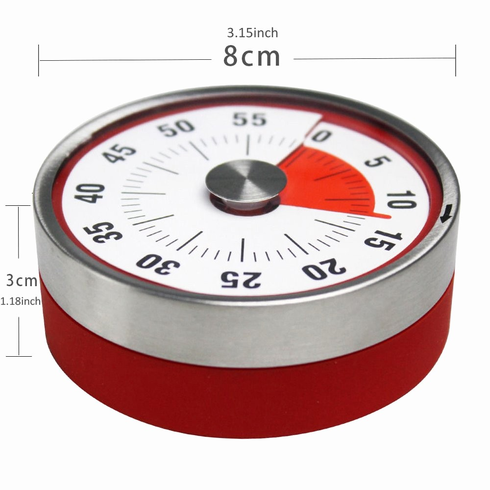 One Minute Timer with sound Best Of Magnetic Mechanical Rotate Time Timer 60 Minutes Capacity