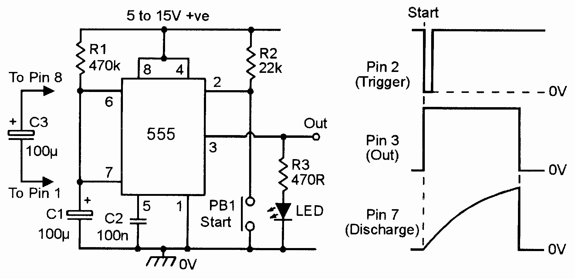 One Minute Timer with sound Inspirational '555' Monostable Circuits