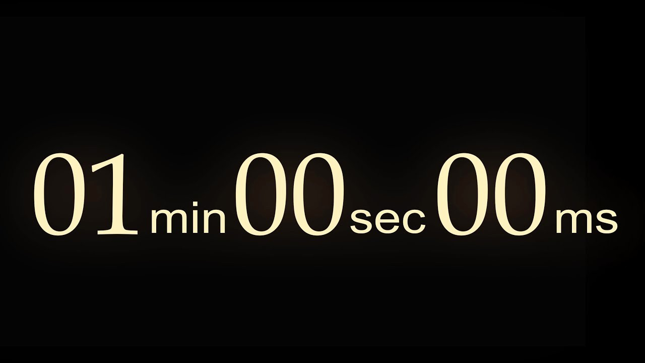 One Minute Timer with sound Inspirational Countdown Timer 1 Min V 522 with Bbc News theme sound