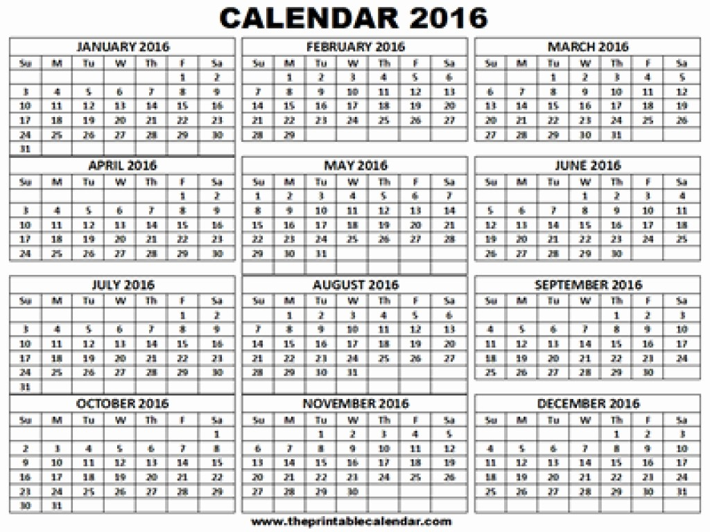 One Page 12 Month Calendar Awesome 2016 2017 Calendar Printable E Page 12 Month