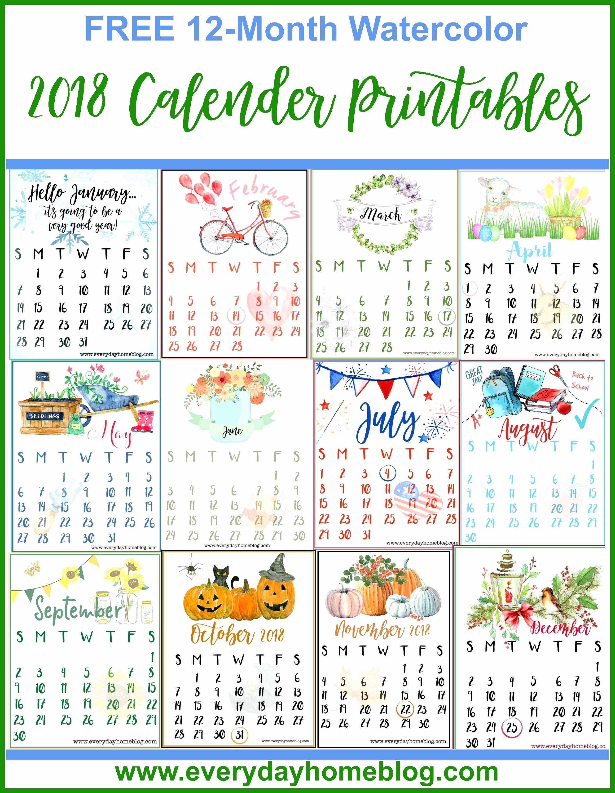 One Page 12 Month Calendar Beautiful Printable 2014 Calendar 12 Months E Page Printable