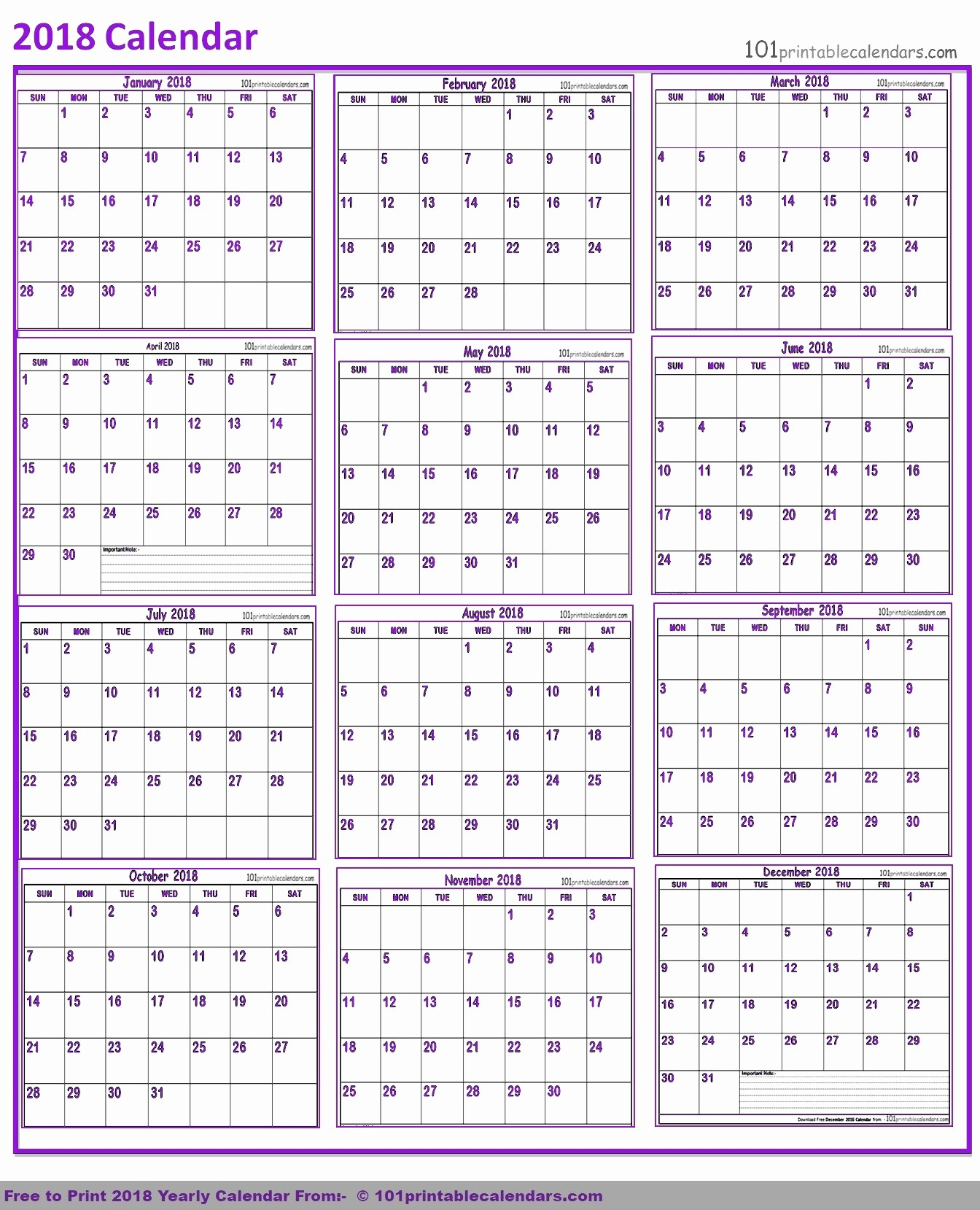 One Page 12 Month Calendar Best Of June 2018 – Template Calendar Design
