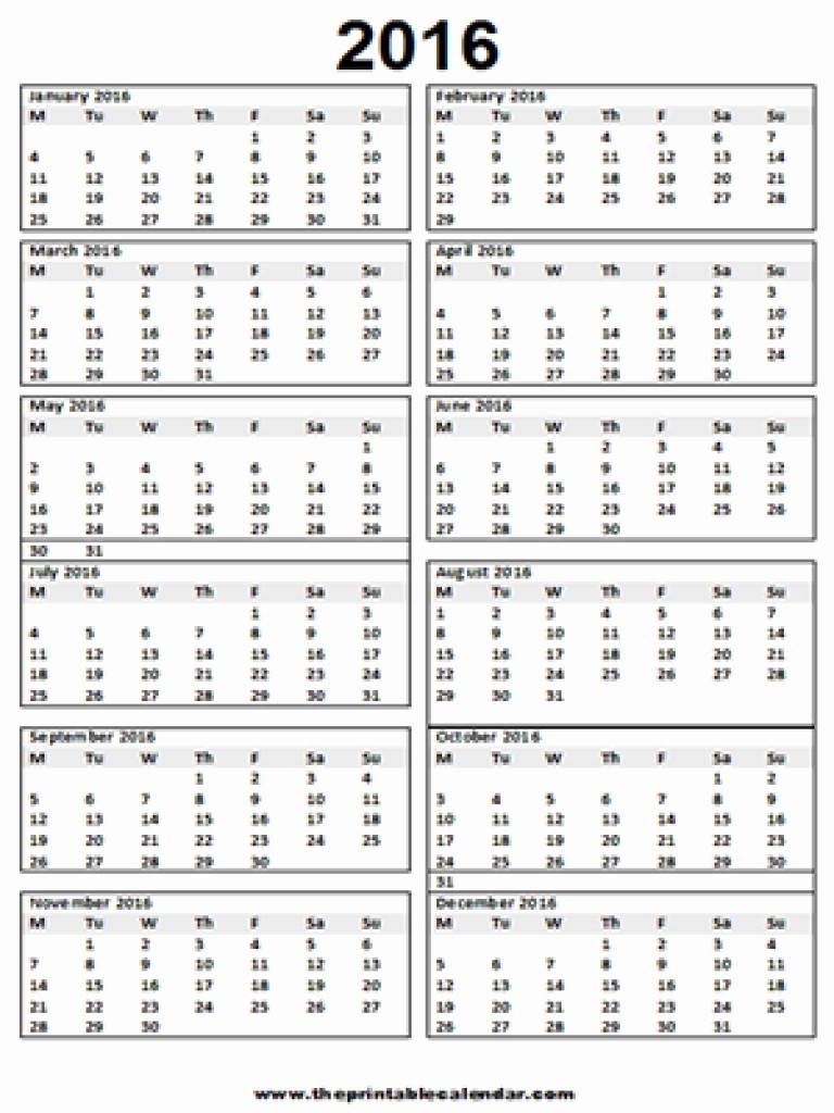 One Page 12 Month Calendar Luxury 12 Month Calendar E Page