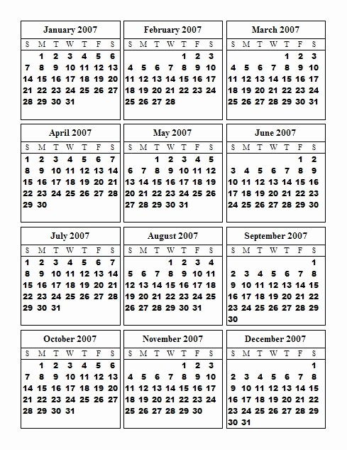One Page 12 Month Calendar New Looking for A 12 Month One Page Calendar