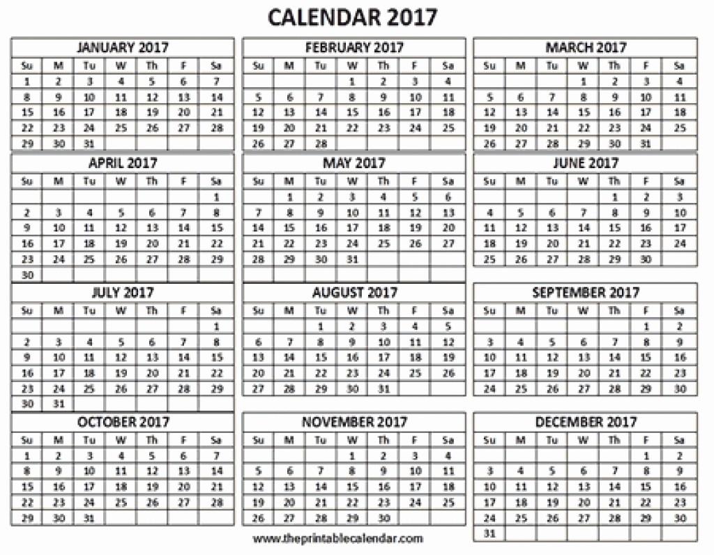 One Page 12 Month Calendar Unique 12 Month Calendar E Page